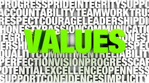 Personal values I hear you say!